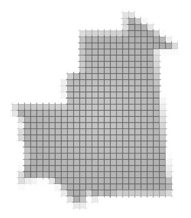 recolor: Mauritania map pixels mosaic. Easy to recolor.