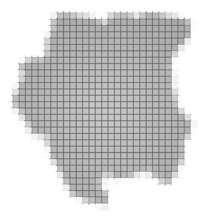 recolor: Suriname map pixels mosaic. Easy to recolor.