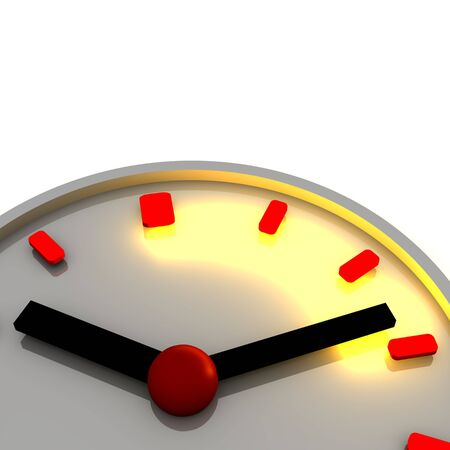 elapsed: Time interval illustration. 3d rendered image. Stock Photo