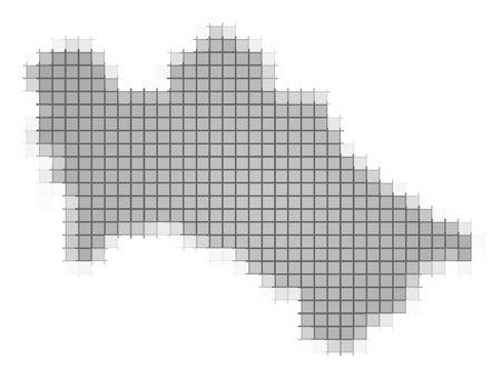 recolor: Turkmenistan map pixels mosaic. Easy to recolor.