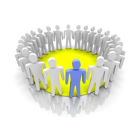 Work group illustration. 3D rendered image. Stock Illustration - 3789607
