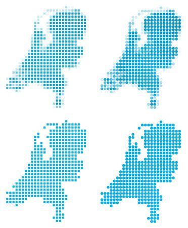 Netherlands map mosaic set. Isolated on white background. photo