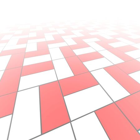 cuboid: Red and white blocks pattern abstract background.