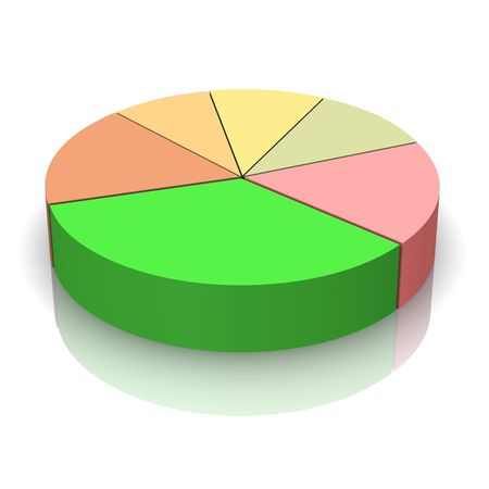 Pie chart 3d rendered illustration Stock Illustration - 3827551