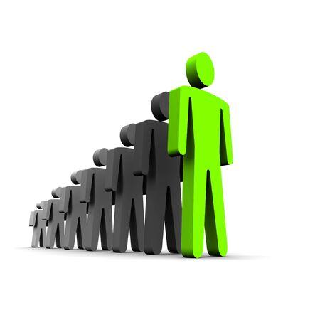 persoonlijke groei: Conceptuele afbeelding van persoonlijke groei. 3D weer gegeven afbeelding.