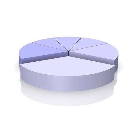 Pie chart 3d rendered illustration Stock Illustration - 3896942
