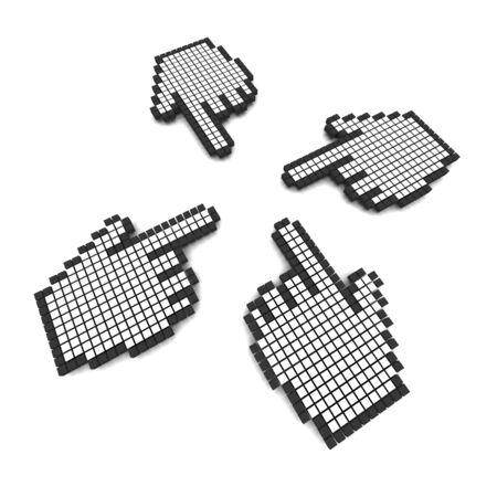 Computer hand cursors 3d rendered illustration Stock Illustration - 3896951