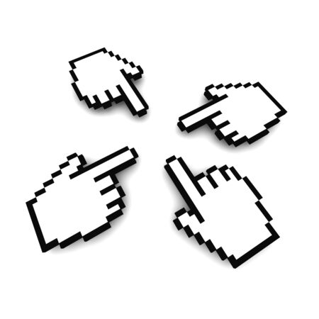 Computer hand cursors 3d rendered image Stock Photo - 3985657