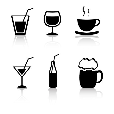 Set of 6 drink icon variations Stock Photo - 4127820