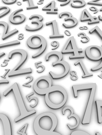 grayscale background: Black and white numbers background. 3d rendered illustration