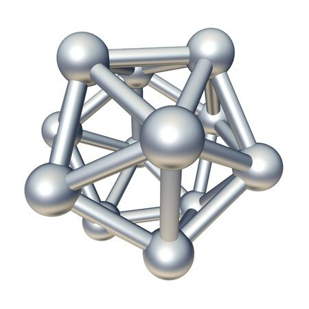 physics: 3d molecule model isolated on white.