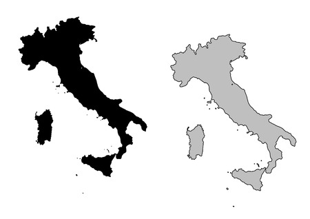 italy map: Italy map. Black and white. Mercator projection.