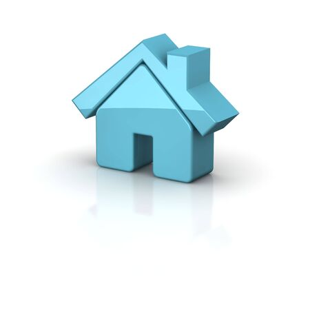 rendered: Shiny house icon. 3d rendered illustration. Stock Photo