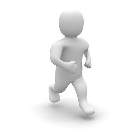 Running man. 3d rendered illustration isolated on white. Stock Illustration - 4904981