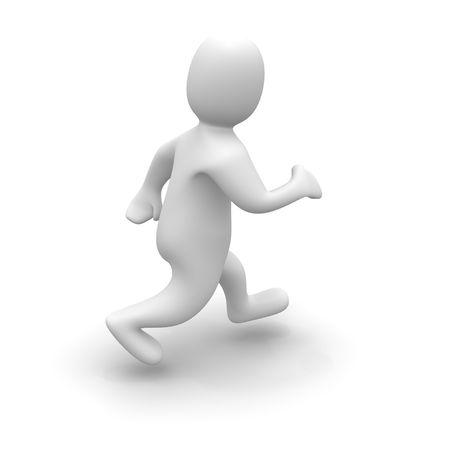 Man in run. 3d rendered illustration isolated on white. Stock Illustration - 4916848