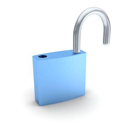 Ulocked padlock isolated on white.. 3d rendered illustration. Stock Illustration - 4916847