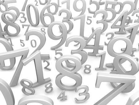 cipher: Black and white numbers background. 3d rendered illustration