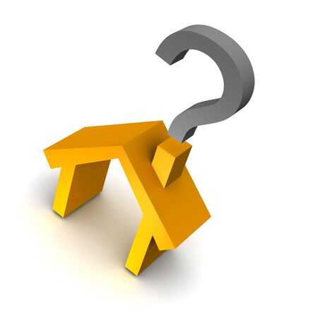 House and question mark. 3d rendered illustration. Stock Illustration - 5673483