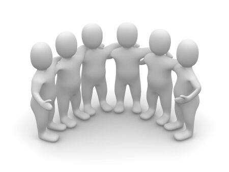 Group of friends. 3d rendered illustration. Zdjęcie Seryjne