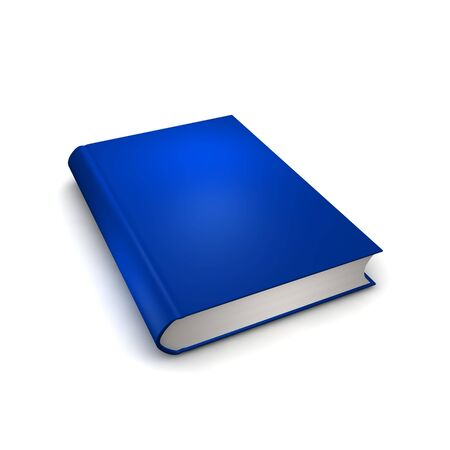 hard cover: Blue isolated book. 3d rendered illustration.