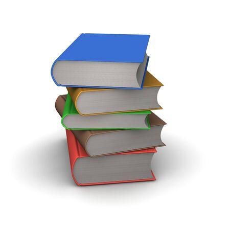 stack of books: Stack of books. 3d rendered illustration.