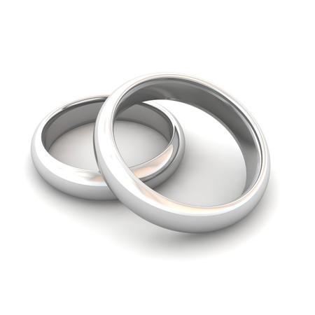 wedding rings: Wedding rings. 3d rendered illustration.