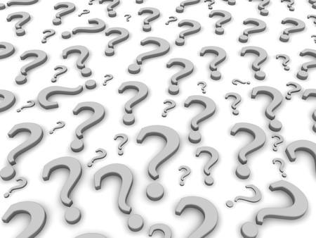 point d interrogation: Question marques backround. 3d a rendu l'illustration.