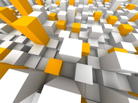 closely: Abstract city from above. 3d rendered illustration. Stock Photo