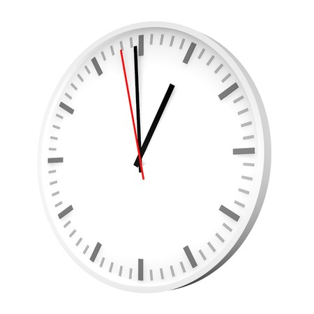 elapsed: Clock with one red hand. 3d rendered illustration. Stock Photo
