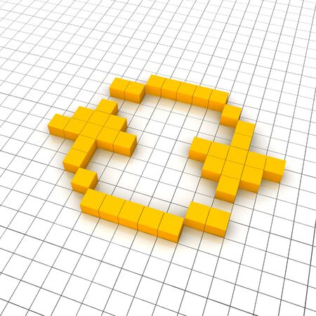 Reload 3d icon in grid. Rendered illustration. Stock Illustration - 7622656