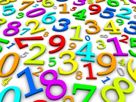 Colorful numbers background. 3d rendered illustration Stock Photo