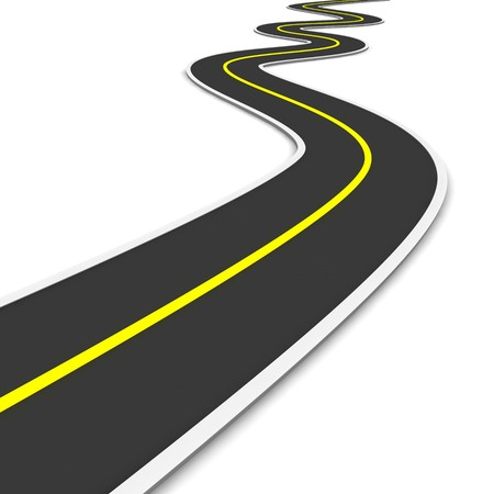 winding road: Twisty road. 3d rendered illustration.
