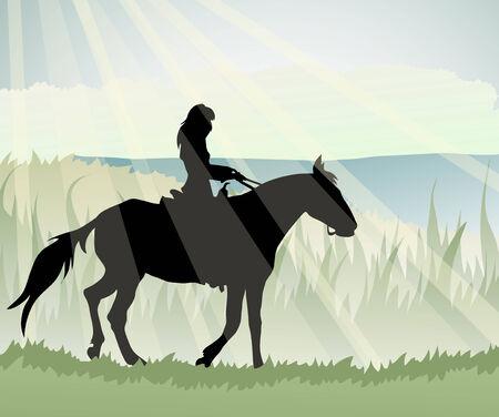 horsewoman Ilustração