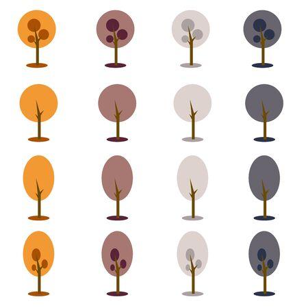 earth tone: simple earth tone color with trees.