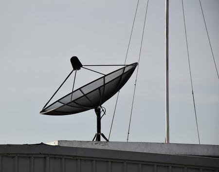 satelite: Satellite dish on the roof.