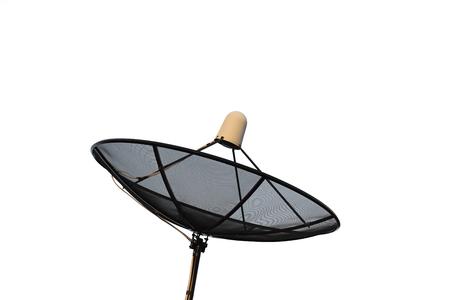 satelite: Satellite dish isolated on white background. Stock Photo