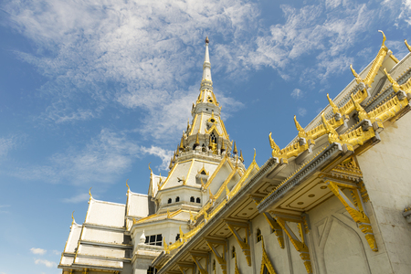 Beautiful marble churchtemple Wat Sothorn, Chachoengsao Thailand