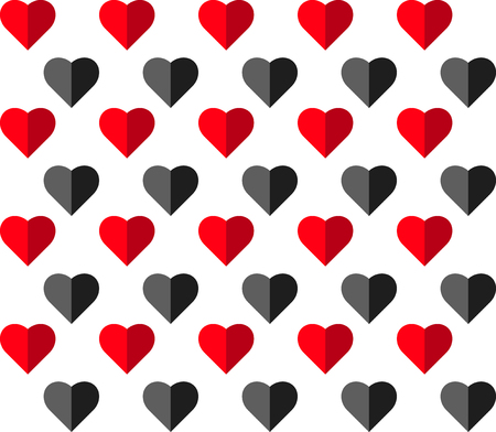 Heart vector seamless pattern on white background, illustration graphic for Valentines Day, mothers day, wedding invitation card. love concept wallpapertexture.