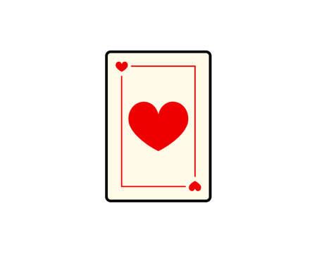 Love poker card vector art illustration