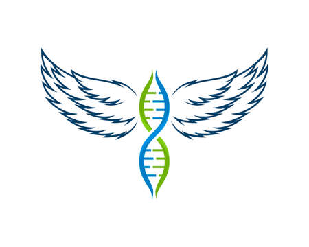 DNA symbol with luxury wings