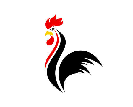 Abstract and luxury rooster