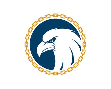 Circular chain with eagle head inside