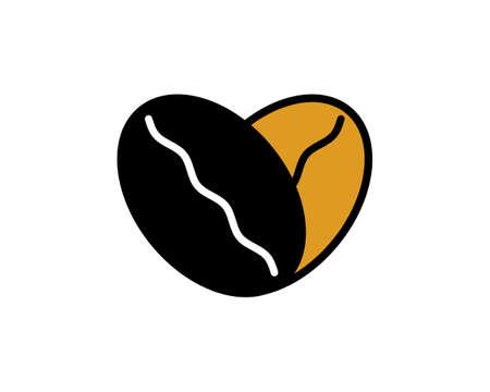 Coffee beans form a love shape