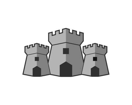 Three fortress with gray colors