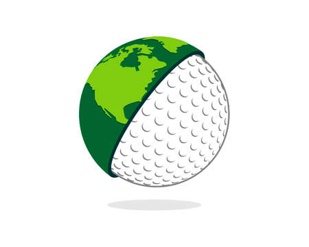 Circle earth with half golf ball