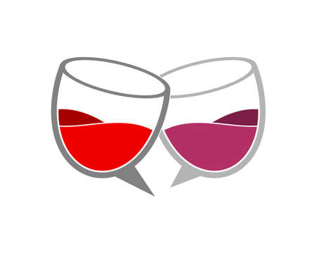 Bubble chat glass with wine