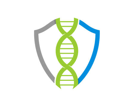 DNA Helix in the shield protection