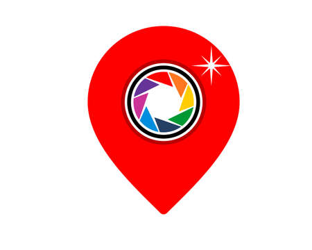 Pin location with camera lens inside