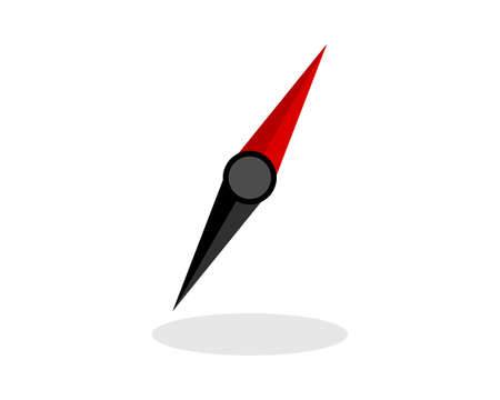 Simple red and black compass needle