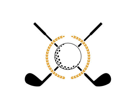 Golf ball with cross golf stick